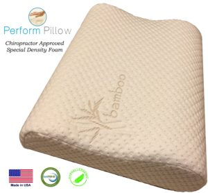 Perform Pillow Double Contour Memory Foam Pillow
