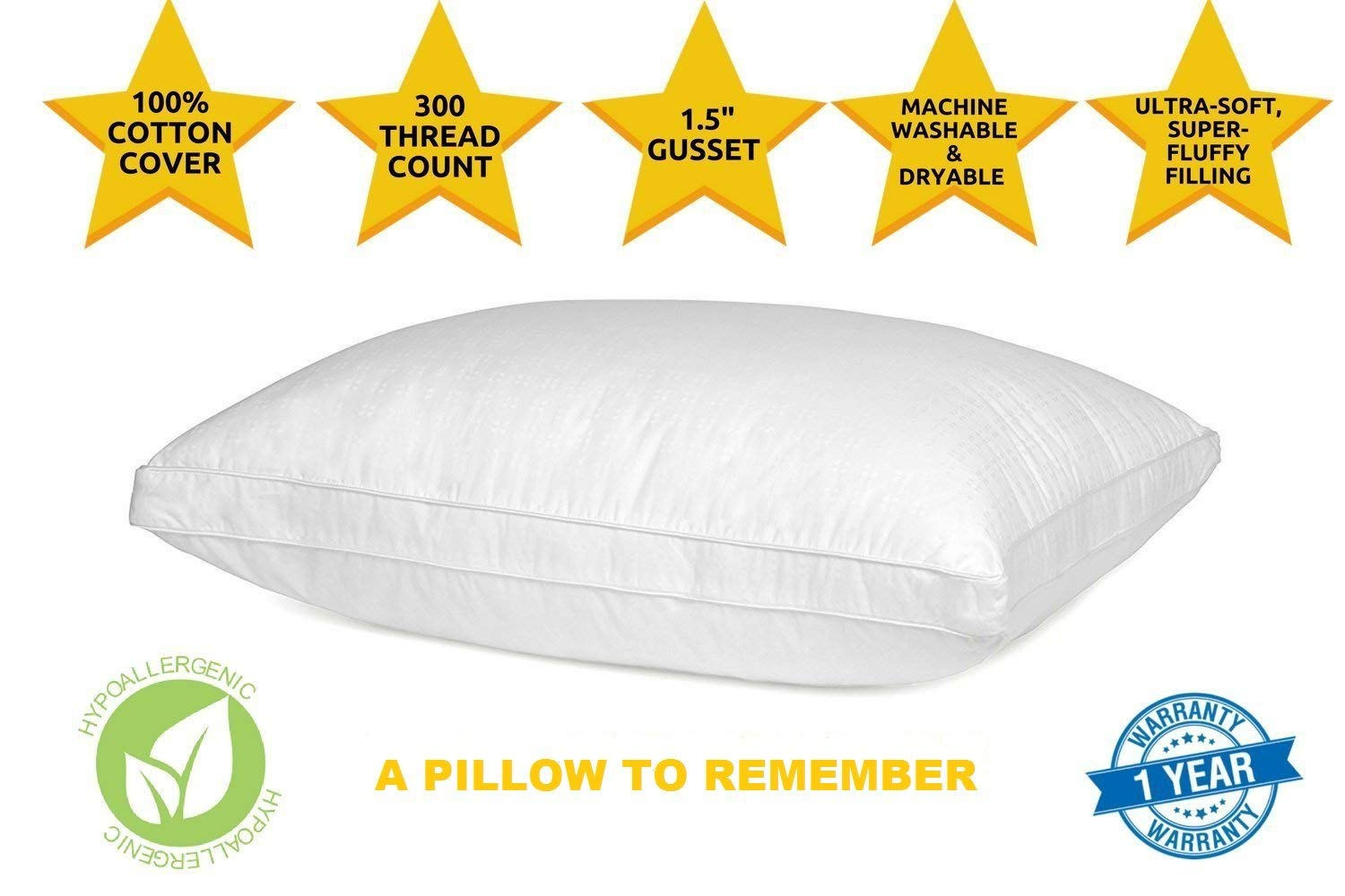 Down Alternative Pillow by Five Star Reviews