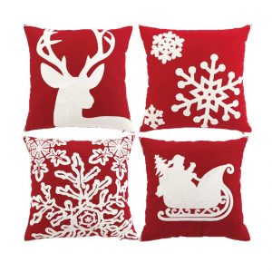 sykting Embroidery Throw Pillow