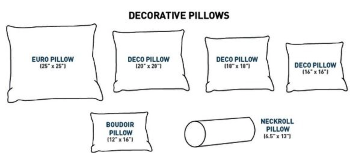 Decorative Pillow Sizes