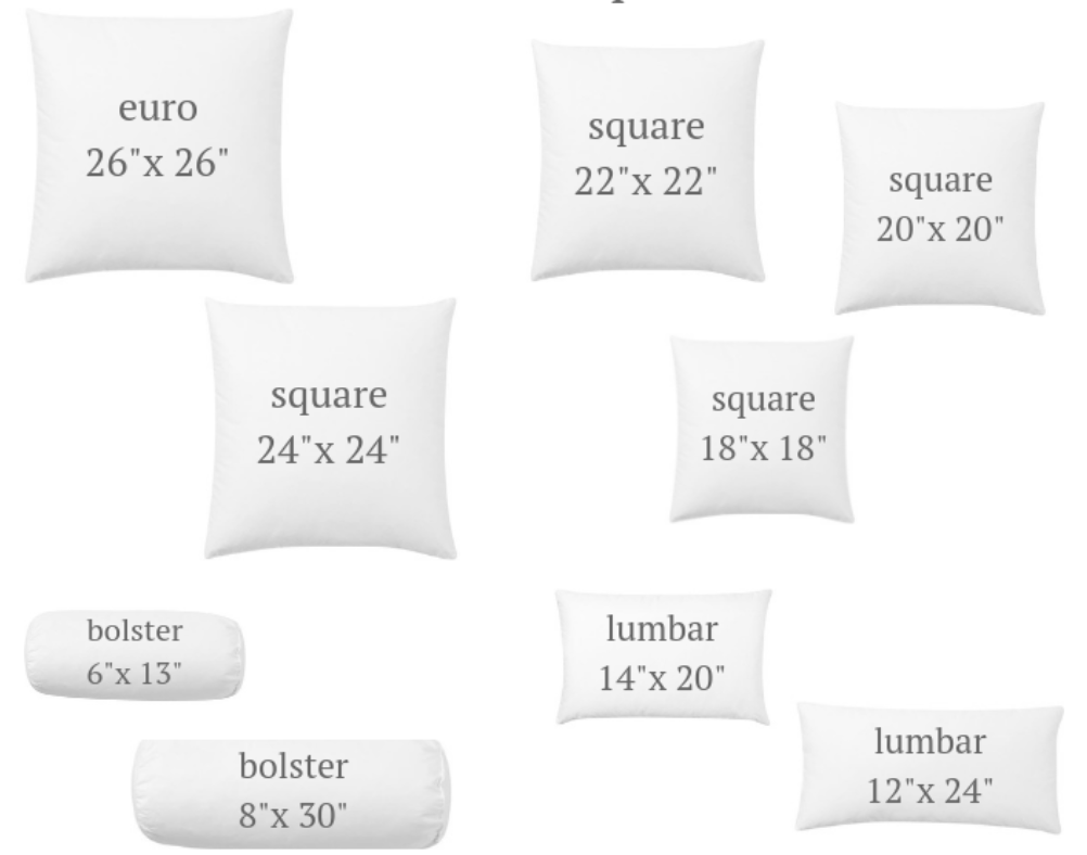 Standard Lumbar Size Pillows