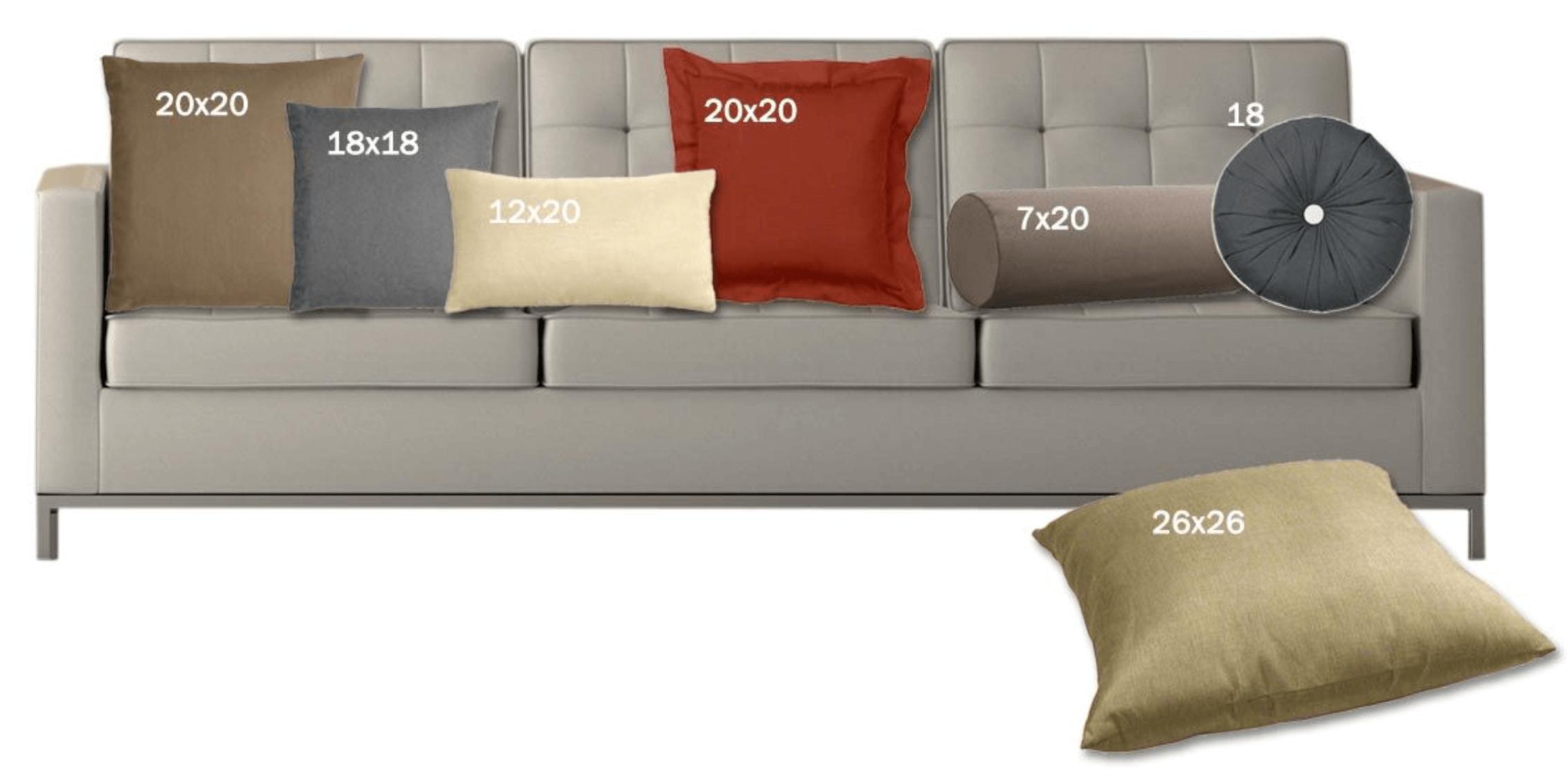 Standard Throw Pillow Size